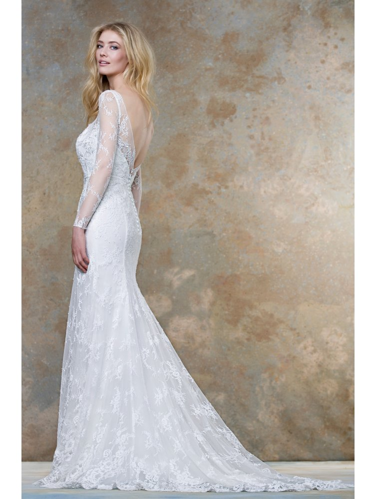 6b111b0f7bb ellis-bridals-18019-soft-lace-bridal-gown-with-sleeves-ivory-p3379 ...