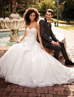 Honor Wedding Dress Rebecca Ingram | tulle ballgown lace wedding dress