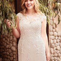 Liesl Lynette Wedding Dress Rebecca Ingram | tulle fit-and-flare lace wedding dress