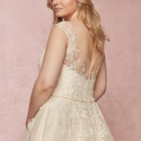 Macey Lynette Wedding Dress Rebecca Ingram | tulle a-line lace wedding dress