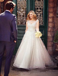 Macey Lynette Wedding Dress Rebecca Ingram | tulle a-line lace wedding dress